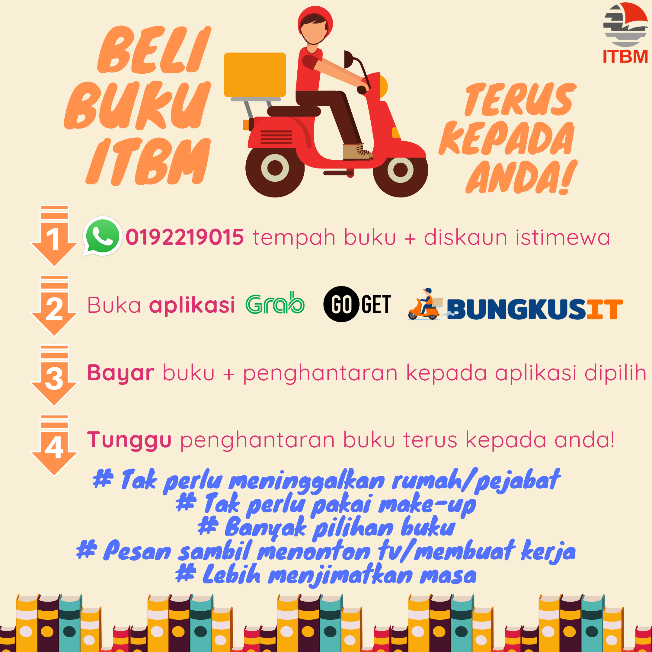 Web banner ITBM promosi delivery buku